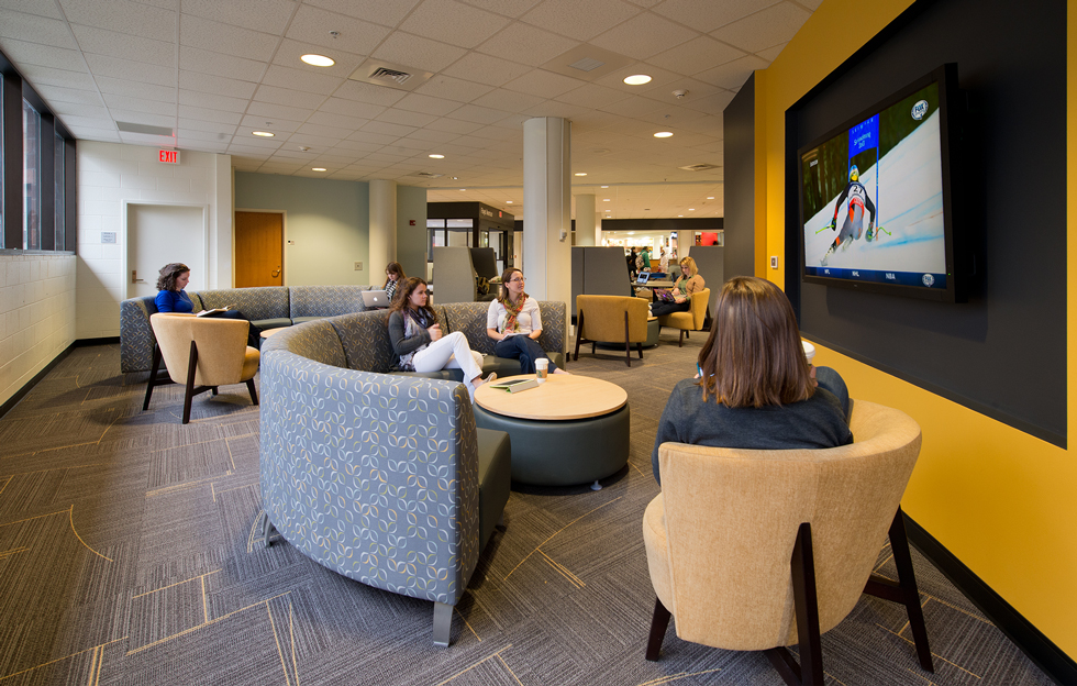 A lounge space within the VCU student commons