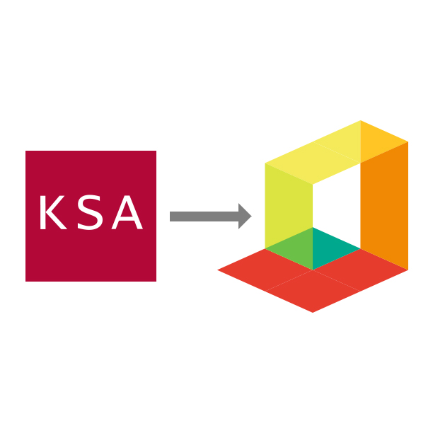 KSA Interior's Logo: Unfolded